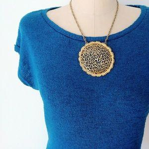 Banana Republic Dark Turquoise Knit Blouse Xs